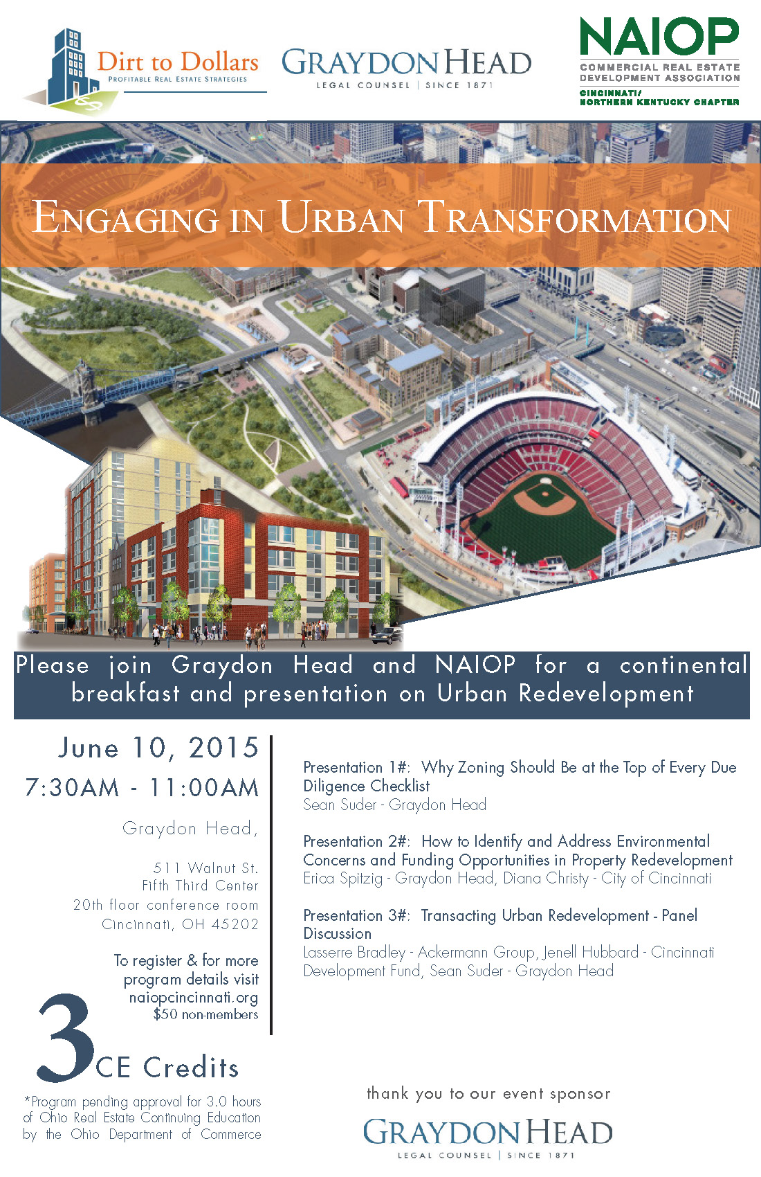 Continuing Education Course – 3 CE Credits – Engaging in Urban Transformation