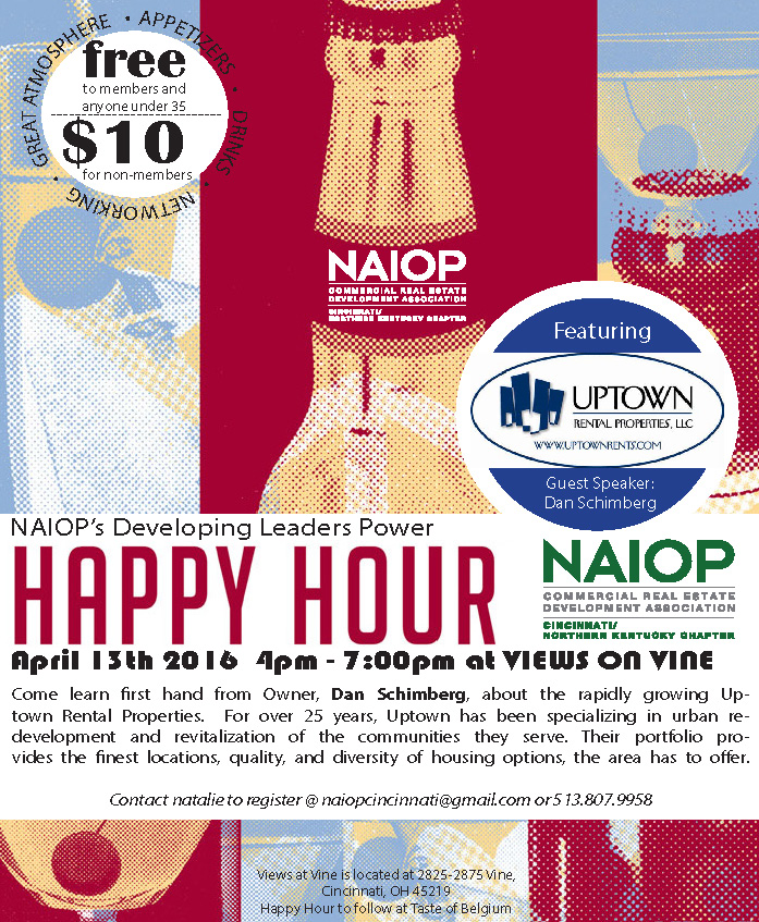 April 13th – Developing Leader/Young Professionals Happy Hour