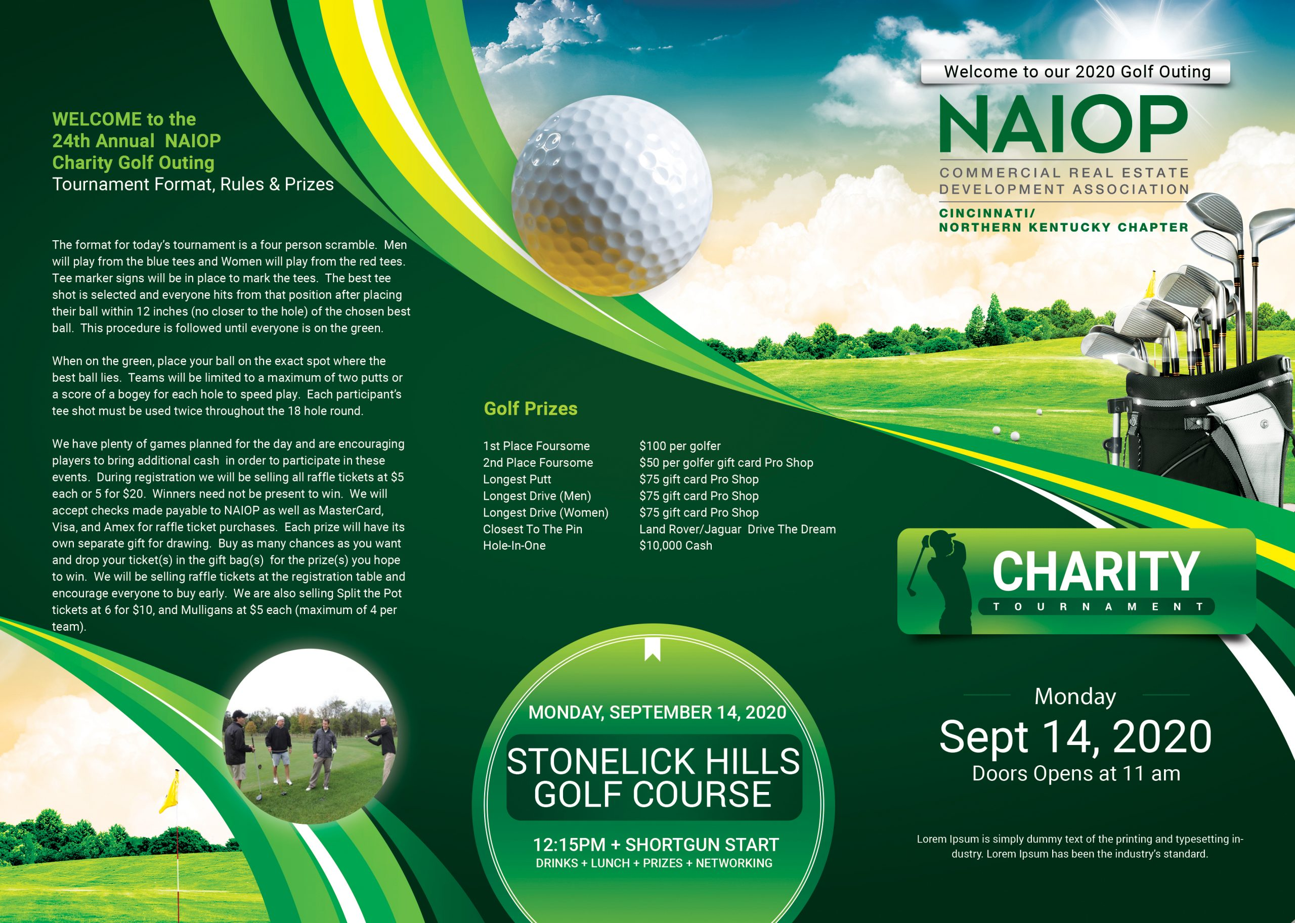 September 14th Annual Golf Outing
